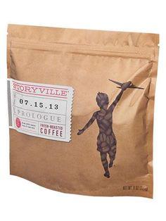 Storyville coffee packaging