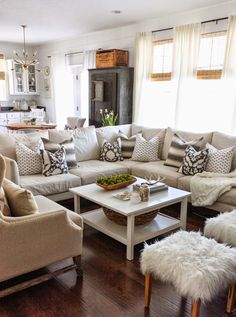 Winter living room decor can be done in many ways. The key is to create a warm and comfortable living room for the season. If you need an insight to redecorate your living room for winter, you can read our… Continue Reading → Winter Living Room, Cozy Living Rooms, My Living Room, Home And Living, Small Living, Modern Living, Living Area, Living Spaces, Decor Inspiration