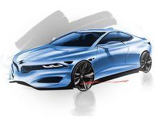 BMW concept by marcell sebestyen Car Design Sketch, Car Sketch, Bmw Convertible, Futuristic Cars, Futuristic Vehicles, Bmw Concept, Used Bmw, Automotive Design, Autos