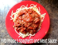 The Fast Metabolism Diet Phase 1: Spaghetti and Meat Sauce.