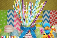 Check out our kids cake selection for the very best in unique or custom, handmade pieces from our craft supplies & tools shops. Birthday Celebration, 3rd Birthday, Birthday Party Themes, Birthday Ideas, Boy Decor, Colorful Party, Paper Straws, Birthday Decorations, First Birthdays