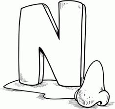 Find This Pin And More On Letter N Coloring Pages
