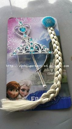4~ 4.5$ Hot sale!!! large stock Frozen Elsa and Anna Children Kids Girl Halloween christmas party gift Accessories baby girls Headwear Crowns +Magic Wand + Hairband + Hairpiece wigCrown Wigs Wands from http://yunhuigarment.en.alibaba.com