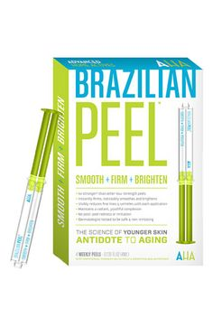Brazilian Peel. I have tried it and yes...it works, remove a few years off your face for a special event