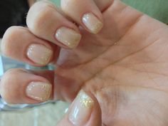 Sparkly nails for fall :)