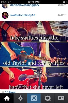 YES!! I hate it when they say I miss the old Taylor! She truly NEVER left!!! She's still the amazing girl she has always been ❤️