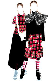 A gallery of fashion images from Janelle Burger Janelle Burger is an Australian fashion illustrator based in Paris. Fashion Illustration Sketches, Fashion Sketchbook, Fashion Design Sketches, Illustration Art, Fashion Images, Fashion Art, Mode Tartan, Fashion Portfolio, Australian Fashion