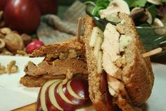 Chicken, Pear, Walnut and Blue Cheese Sandwich | The Healthy Foodie