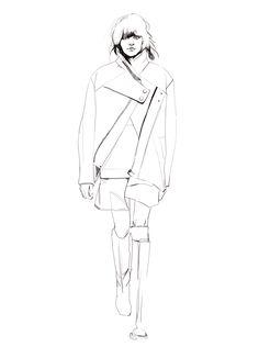 Fashion illustration - runway fashion sketch // Shira Barzilay