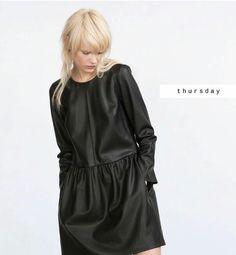 Zara leather dress