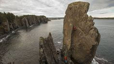 Great post from Red Bull of Arc'athlete Will Gadd climbing the sea stacks of Newfoundland.