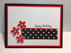 Express Yourself with Petite Petals Stampin' Up! Rubber Stamping Handmade Cards Birthday Card Quick Cards Stamp a Stack