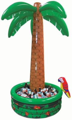 6' Inflatable Palm Tree Cooler Tropical Hawaiian Luau Party | eBay