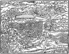 Illustration de la bataille de Novare d'après la chronique de Johannes Stumpf, 1548-: bataille de Novare: la cavalerie lourde Française, décisive en terrain ouvert, ne put se déployer et joua un rôle mineur dans l'affrontement au corps à corps. Ce fut une bataille particulièrement sanglante, faisant 5000 victimes (voire 10 000 selon certains historiens) dans les rangs français, tandis que les piquiers Suisses ne perdirent que 1500 hommes, principalement fauchés par les tirs d'artillerie