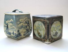 2 Vintage Candy Tins Venice Italy and Dutch by SharetheLoveVintage