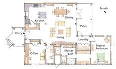 2013 Best Retirement Home (Plan) /Architect: Jon Nystrom – as seen in Fine Homebuilding Magazine! Retirement House Plans, Barn House Plans, House Floor Plans, Retirement Planning, Fine Home Building, Building A Pole Barn, Building A House, Backyard Guest Houses, Pool Houses