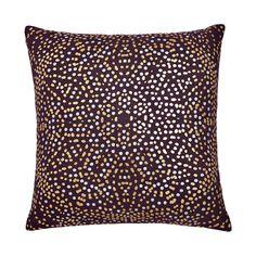Annalise Metallic Dot Throw Pillow in Blackberry