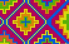 Tapestry Crochet Patterns, Bead Loom Patterns, Crochet Stitches Patterns, Cross Stitch Patterns, Mochila Crochet, Graph Paper Art, Diy Bracelets Easy, Bead Crochet Rope, Crochet Blocks