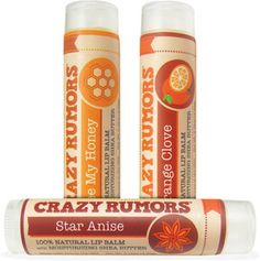 Crazy Rumors Seasonal Flavor Lip Balms - Orange clove