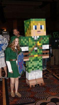 8-Bit Link! Minecraft Costume