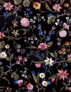 Flower fabric design, by William Kilburn. Fabric AW14 inspo.