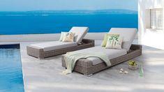 Savannah Outdoor Sunbed Twin Set | Lavita Furniture