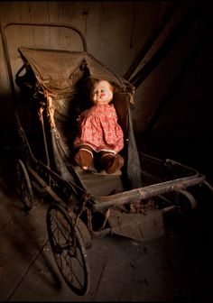 doll in an upstairs room of the abandoned Diary Keepers cottage