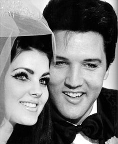 pictures to buy of elvis and priscilla wedding   The beehive, the lashes, the brows. Perfection.