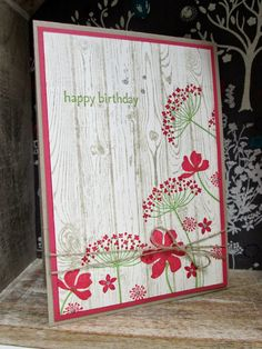 Hardwood with Summer Silhouettes by Stampin' Up! Can't wait to get my hardwood stamp.  I'm seeing endless possibilities!!