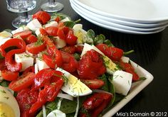 Mia's Domain: Roasted Pepper Egg Salad with a Balsamic Vinaigrette