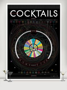 Pop Chart Lab — Constitutions of Classic Cocktails $36