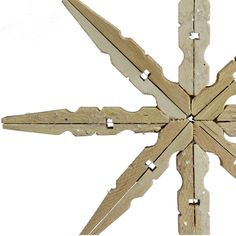 Clothespins - It doesn't get any easier than this: make wooden snowflakes using just clothespins and some glue.