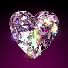 Heart diamond love it Crystals And Gemstones, Swarovski Crystals, Diamond Tattoos, Diamond Art, Love Wallpaper, Elements Of Art, Gems Jewelry, Heart Pendant Necklace, Heart Art