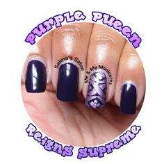 SUNDAY, 9 JUNE 2013  My Manicure: Purple Pueen Reigns Supreme