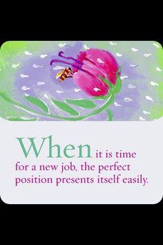 New job affirmation