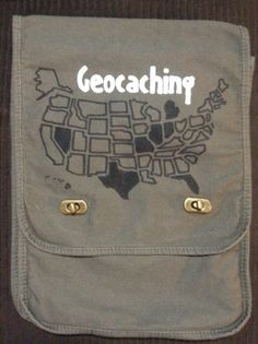 USA Geocaching Field Bag by KreativeKotz on Etsy