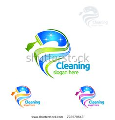 Cleaning Service vector Logo design, Eco Friendly Concept with shiny splash isolated on white Background Laundry Logo, Cleaning Service Logo, City Logo, Vector Logo Design, Logo Templates, Clean House, Slogan, Free, Retro