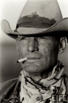 This cowboy reminds me of my Dad Harry in many ways!   1960– Clarence Hailey Long, foreman on the JA spread in Texas  –Photo by Leonard McCombe