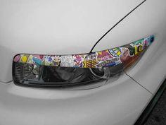 #stickerbomb Car Organizers, R Vinyl, Vehicle Wraps, Sticker Bomb, Cool Stickers, Car Wrap, Nice Cars, Car Decals, Custom Cars