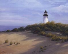 Free Printable Pictures of Lighthouses | Lighthouse on the Shore, Art Print by Vivien Rhyan, Medium (paper size ...