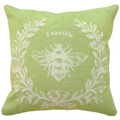 123 Creations French Napoleon Bee 100% Linen Pillow