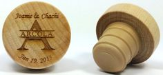Custom wine stoppers for weddings and more.  GREAT save the date and souvenirs for events. Visit http://www.coolwinestoppers.com for more info
