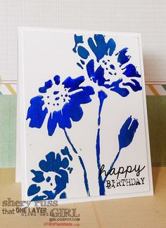 That One Layer Mixed Media Girl: Paper craft project no. 337: Happy birthday CAS…