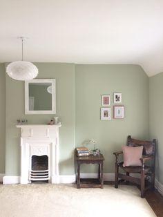Lydia's Bedroom - Sage green and dusky pink scheme - Reading corner - House ideas - Home Sage Living Room, Sage Green Bedroom, Green Bedroom Decor, Green Master Bedroom, Sage Green Walls, Master Bedroom Interior, Bedroom Wall Colors, Green Rooms, Dusky Pink Bedroom
