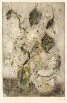 Bohuslav Reynek (1892 - 1971), Stillife, cliche verre