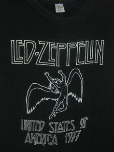 68fdda543 Original LED ZEPPELIN vintage 1977-79 tour SHIRT. Band Shirts