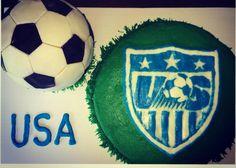 USMNT Cake @ SinfullySanders.com
