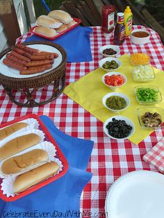 Pinner before:  A Deluxe Hot Dog Bar - Celebrate Every Day With Me | Celebrate Every Day With Me