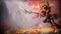 Download Master Yi Ionia Skin Splash Art League of Legends 1366x768