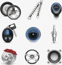 Vector Auto Parts, Auto Accesorios, Reparacion De Coches, Neumatico PNG y Vector